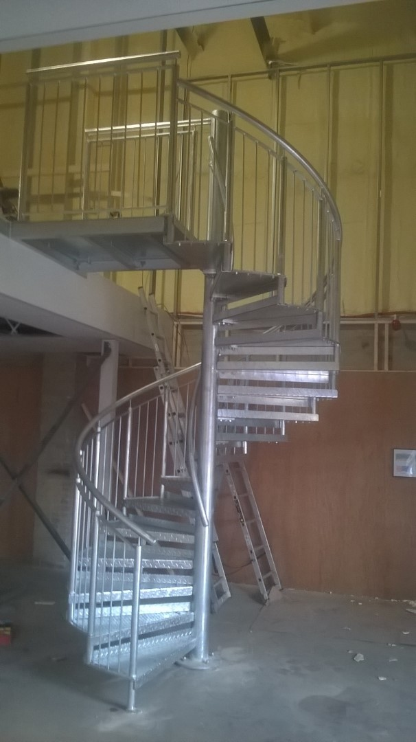 steel staircase fabricated by bradfabs, staircase installed in bradford, staircase installed in Sheffield, steel starcase custom made and installed by bradfabs