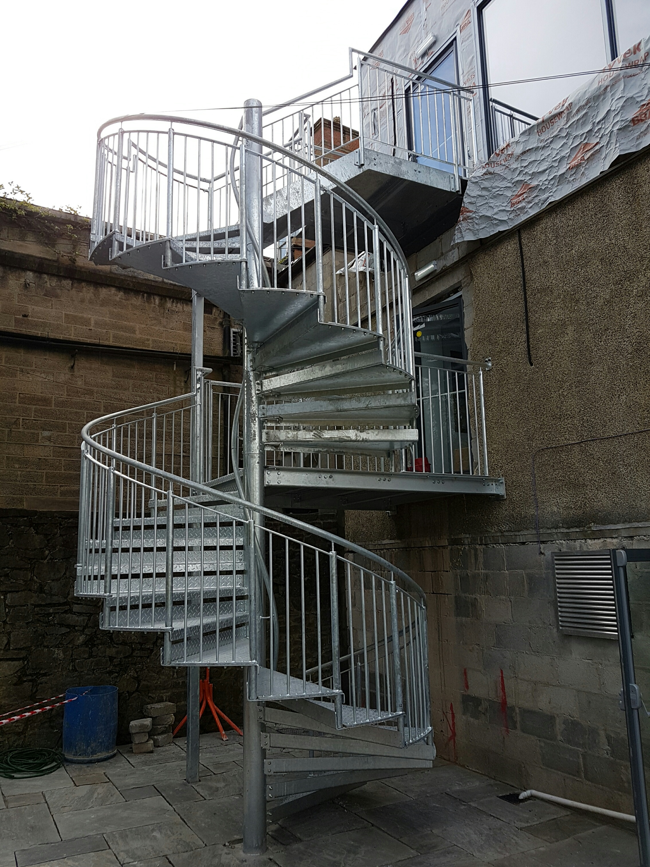 Galvanised Spiral Staircase