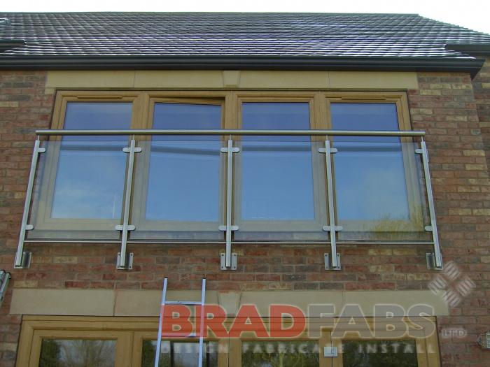 Steel and glass balconette installed in south yorkshire