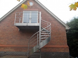 BRADFABS made this high quality spiral staircase, installed in West Yorkshire
