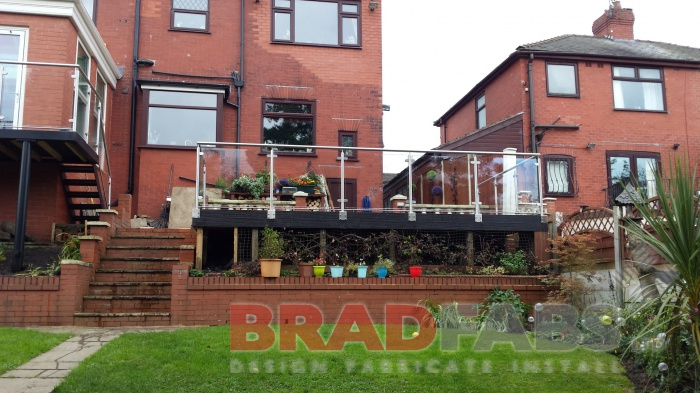 View of the balcony & Balustrade from the Garden.