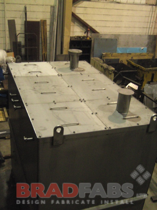 Stainless steel tank, industrial fabrications, tanks, frames, engineering