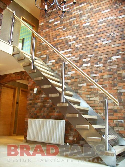 Steel fabricators of balconies staircases straight for Pre built stairs