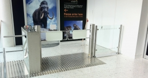 turnstiles fabricated by bradfabs in bradford, cinema turnstiles, airport turnstiles, security turnstiles