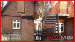 fire escape installed by Bradfabs