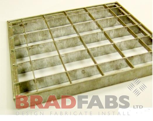 open mesh flooring panels in a fabricated finish bespokely made by bradfabs