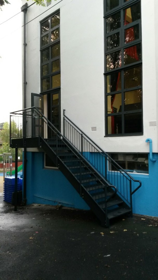 Fire escape installed and manufactured by Bradfabs