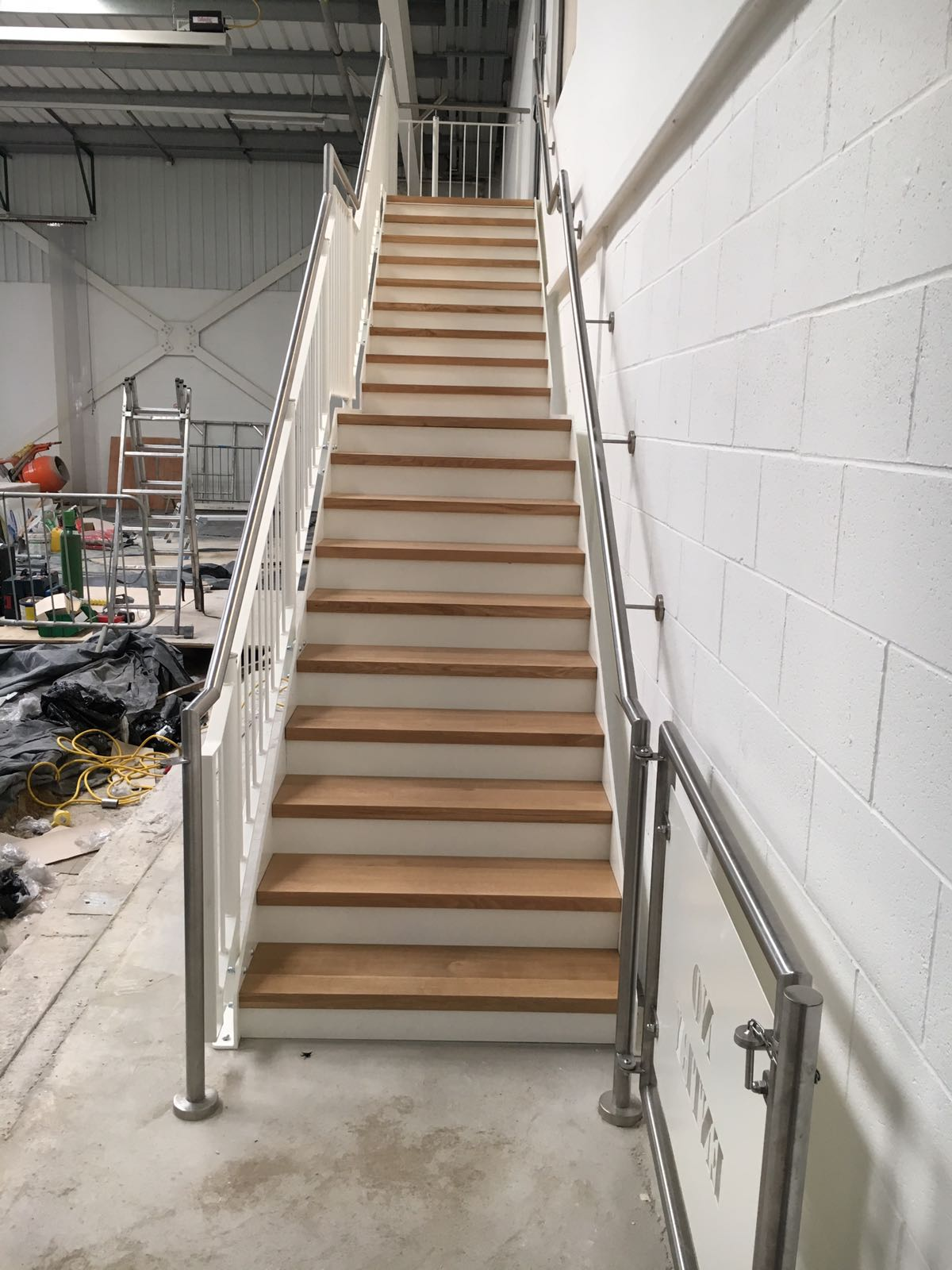 Bespoke steel staircase for Aintree Racecourse