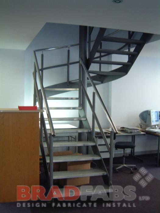 Unique Spiral/Straight design to give office access within restricted space