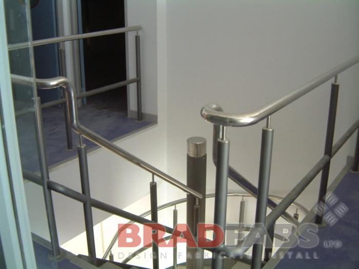 Curved Stainless Handrail