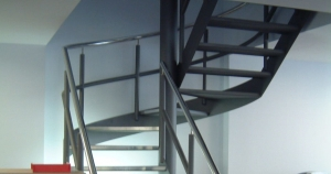 Spiral Staircase installed in offices in Leeds.