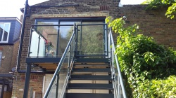 privacy glass balcony and staircase combi