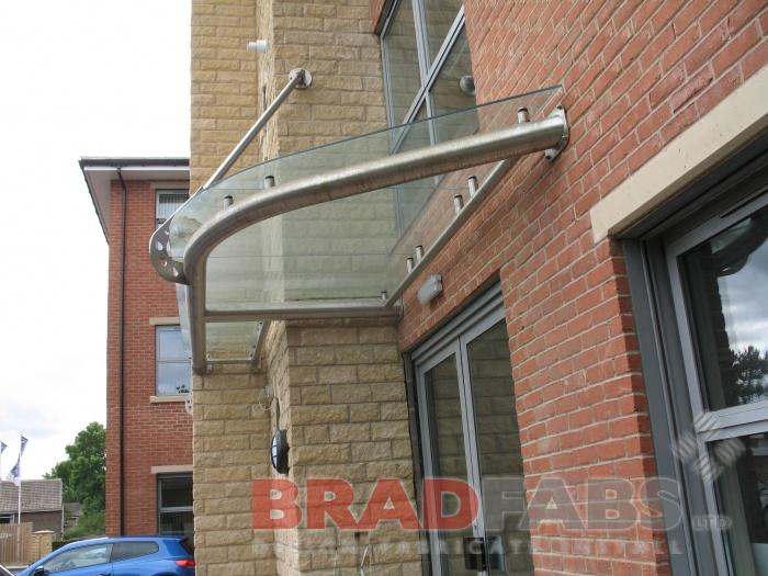 Rounded Glass Design Canopy - UK Wide Installations