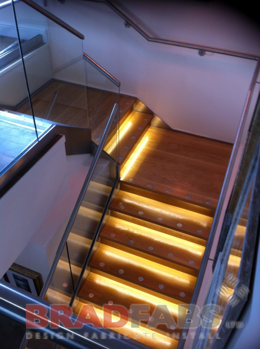 Oak Treads with LED Lights
