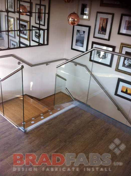 Glass Balustrade to landing Area
