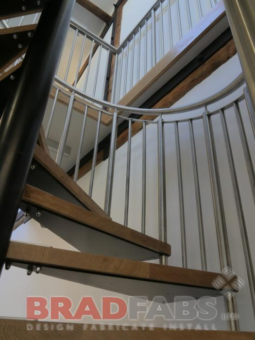 Curved Stainless Steel staircase