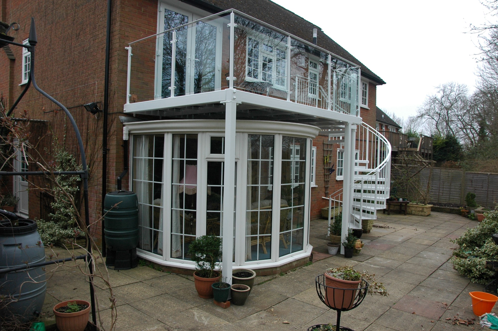 Spiral Staircase, external spiral staircase, Steel spiral staircase manufactured by Bradfabs