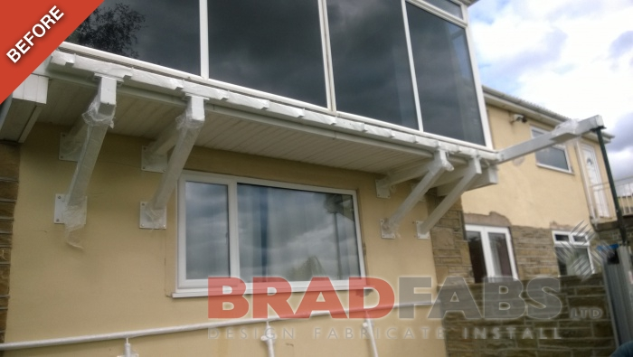 Before image - our customers old balcony before they got a Bradfabs re-vamp!
