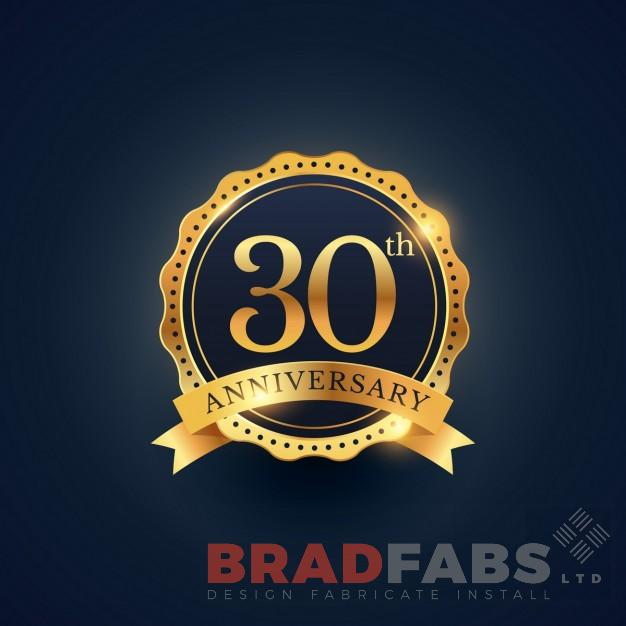 Bradfabs Celebrates 30 Years in the Industry
