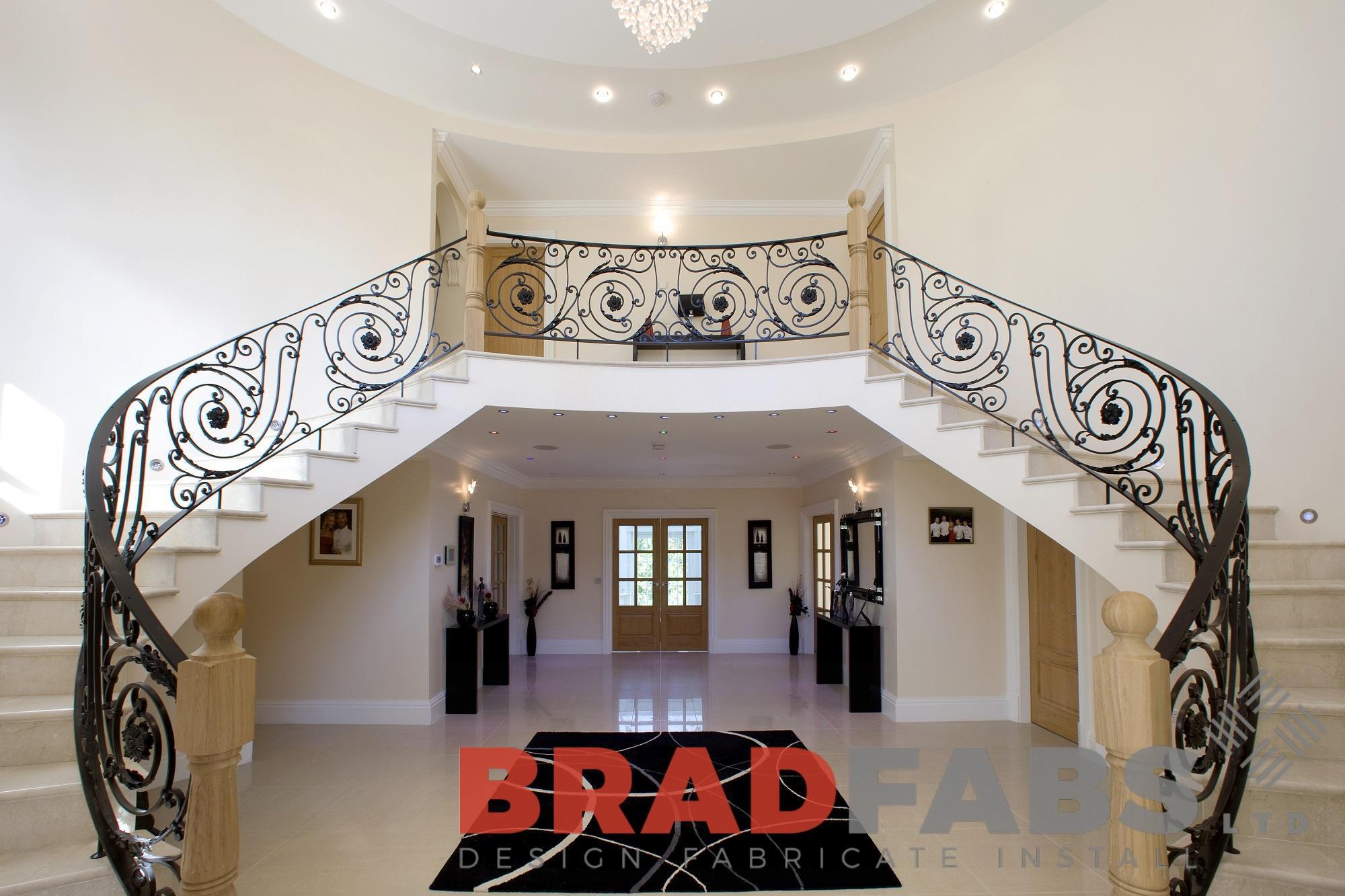 Impress Your Guests with a Curved Staircase From Bradfabs