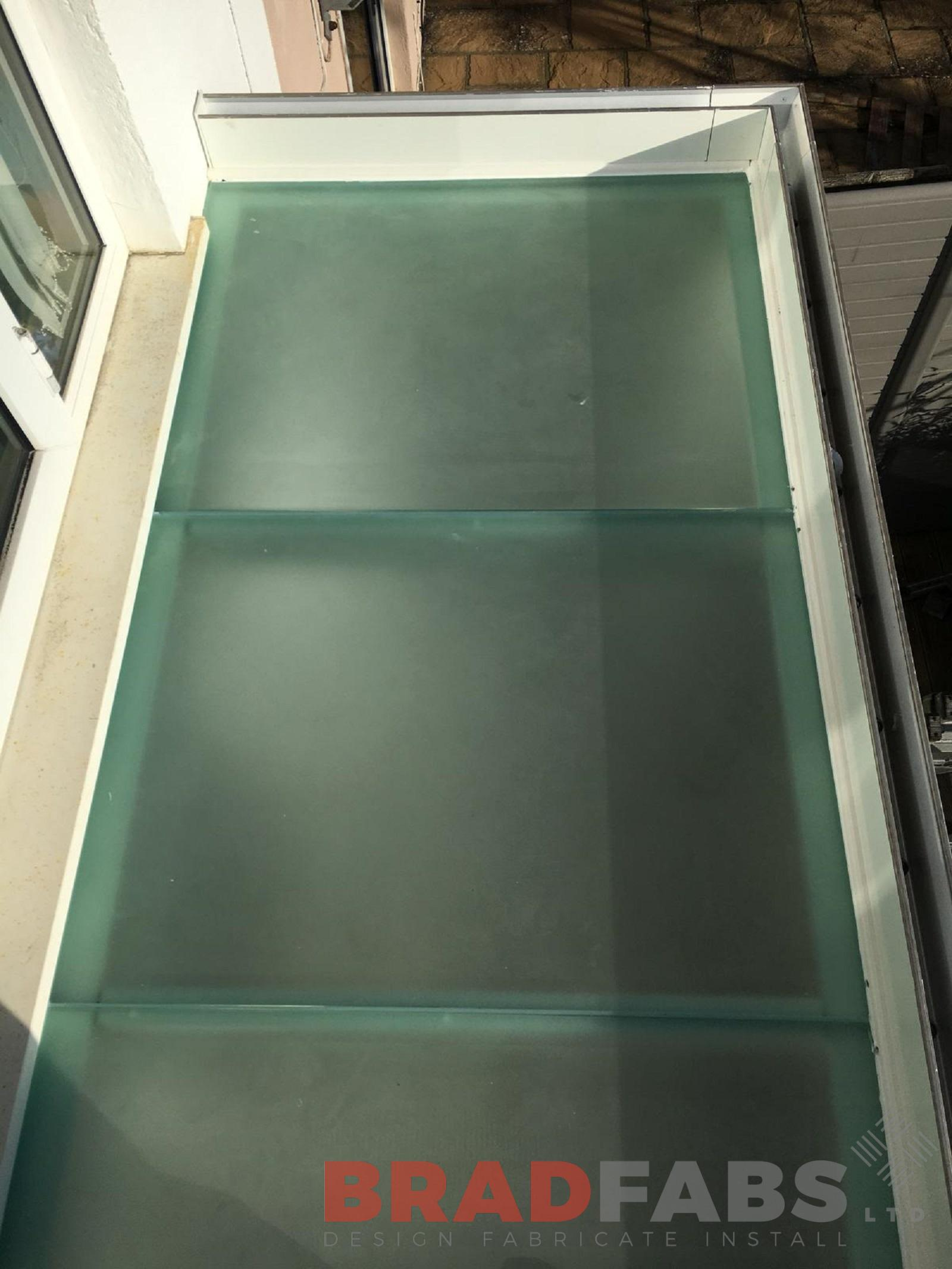 Glass Floor balcony manufactured by Bradfabs