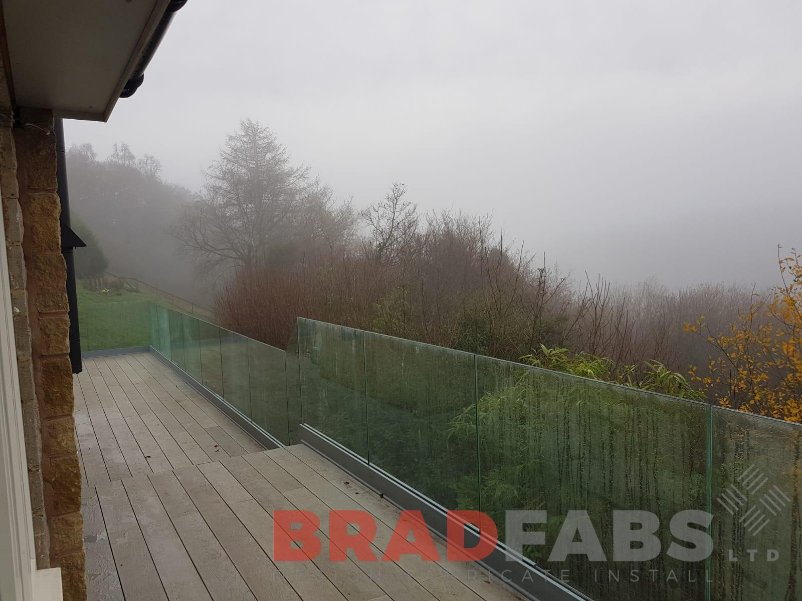 Infinity glass balustrade balcony by Bradfabs