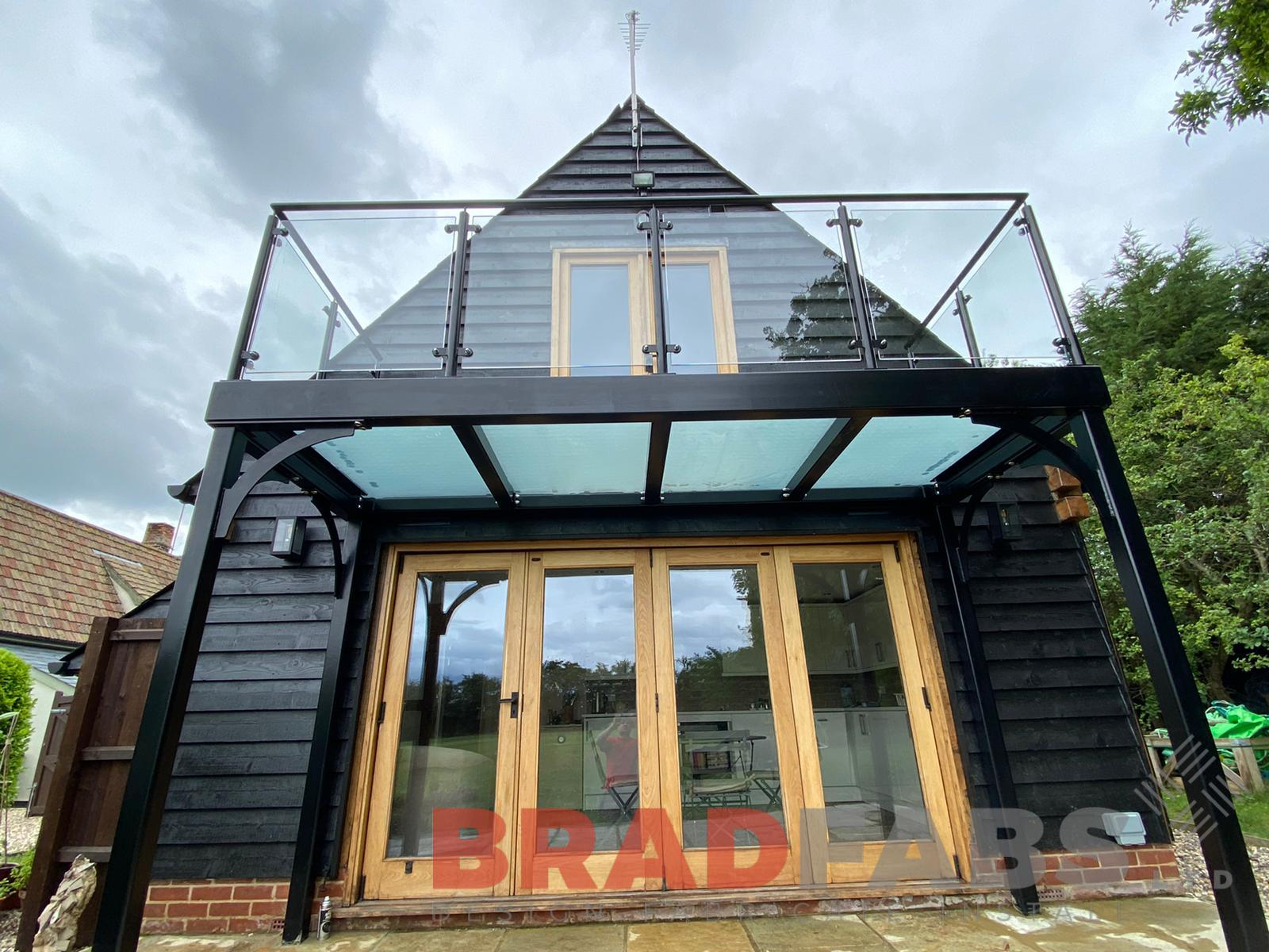 Bespoke balcony with glass floor by Bradfabs Ltd