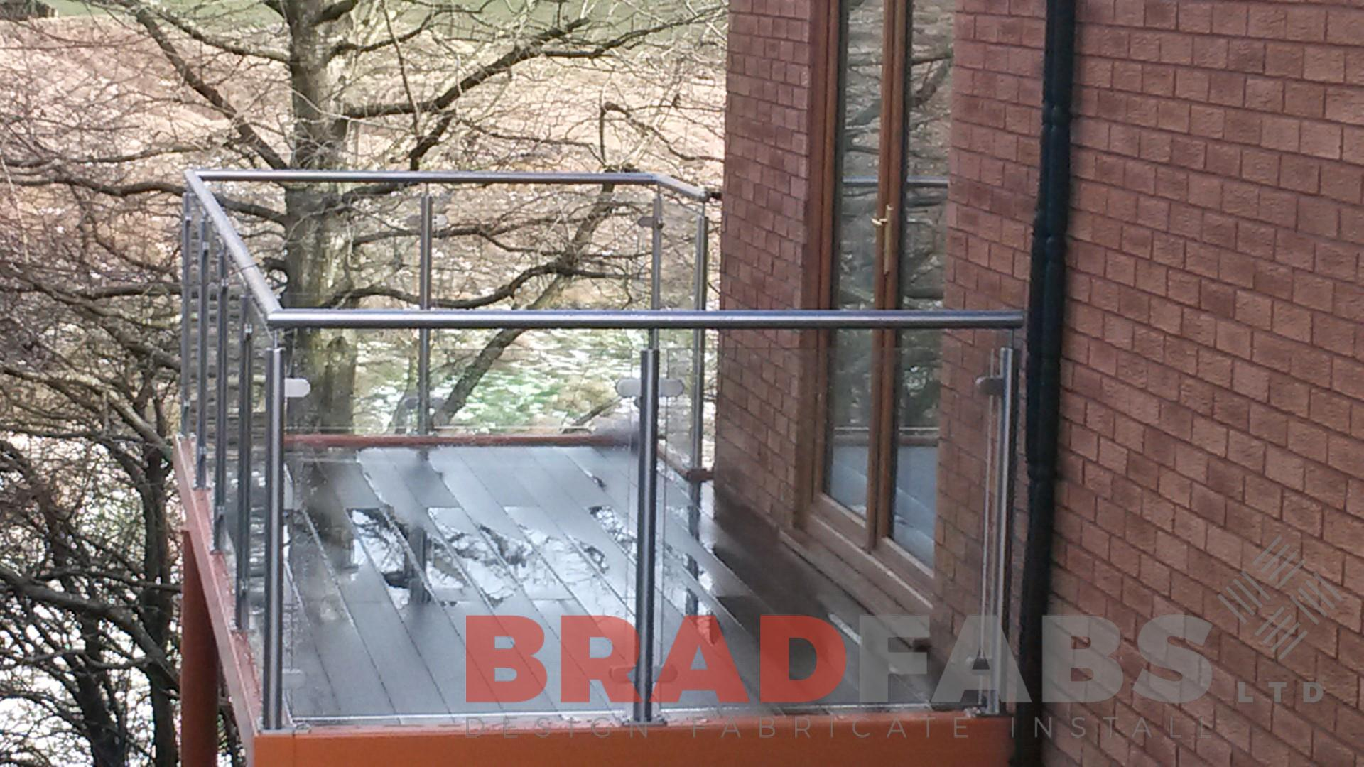 Bespoke balcony manufactured by bradfabs