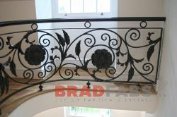 Bradfabs fabricated this high quality mild steel, powder coated ornate balustrade