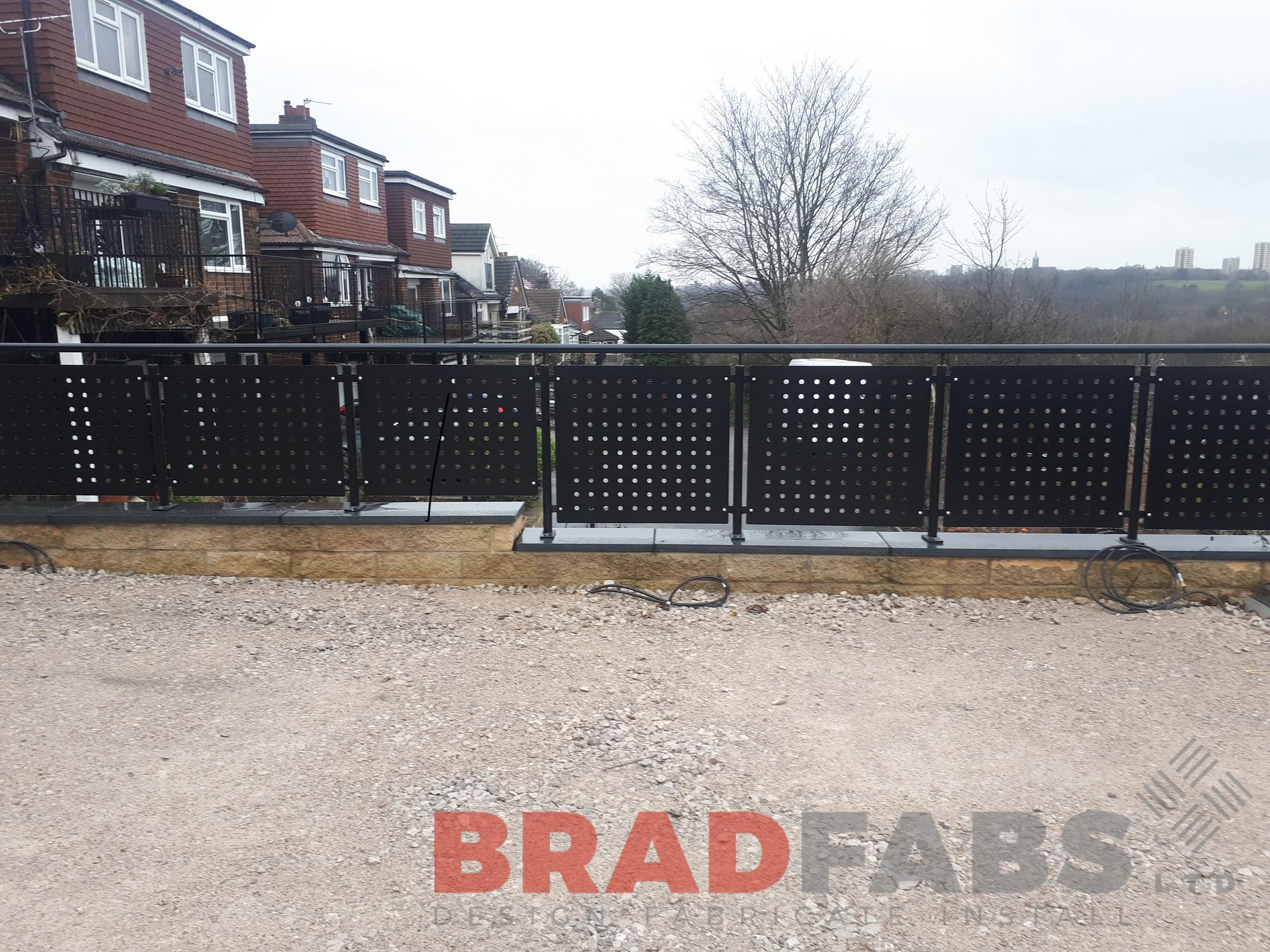 Decoarative balustrade, mild steel, powder coated, galvanised