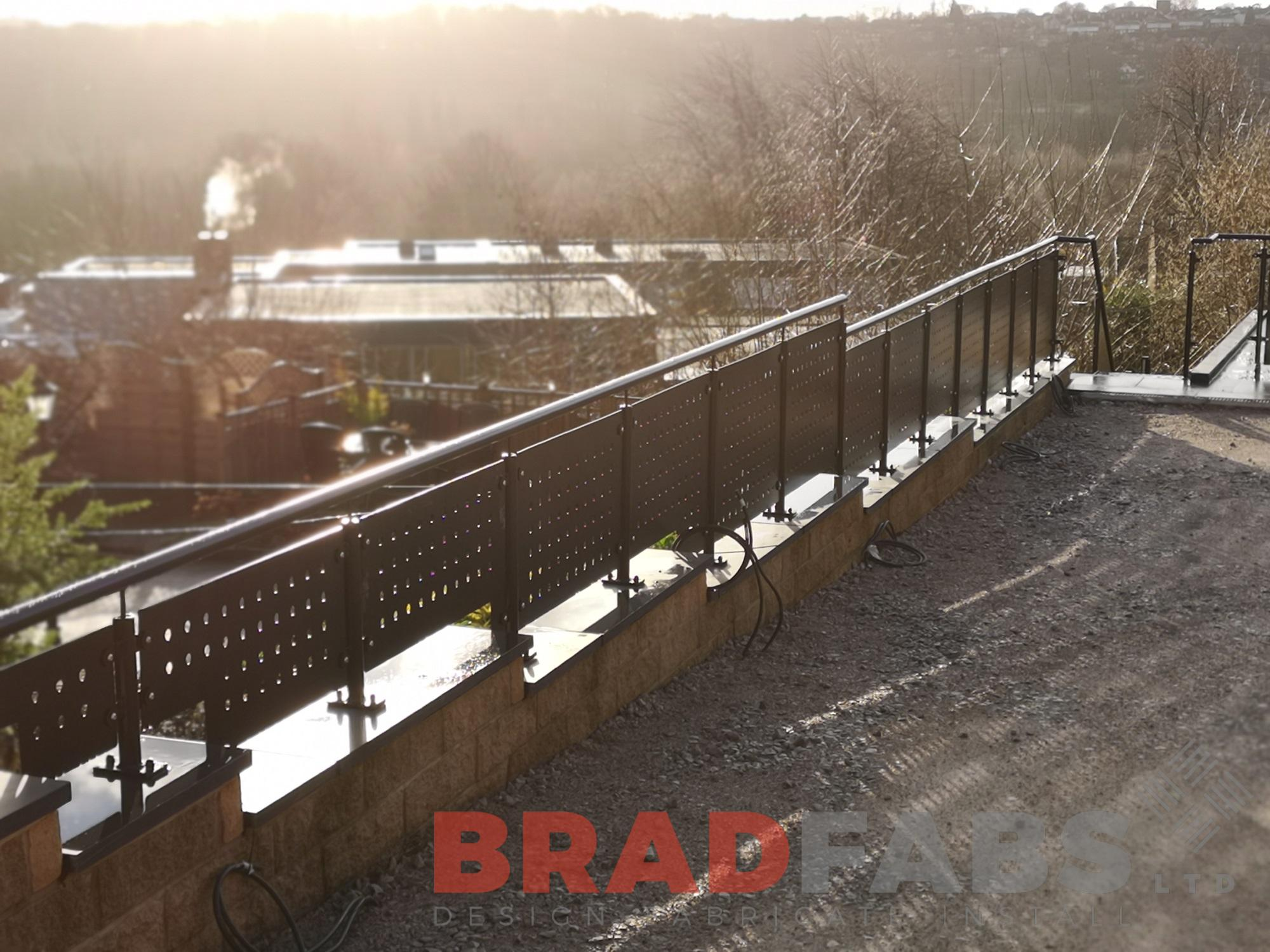 Mild steel, powder coated, galvanised, decorative balustrade with handrail