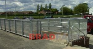 external balustrading is fabricated in mild steel, BRADFABS fabricated handrial and balustrading