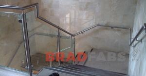 Stainless steel and glass balustrade fabricated by BRADFABS