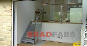 Bradfabs bespoke stainless and glass balustrade