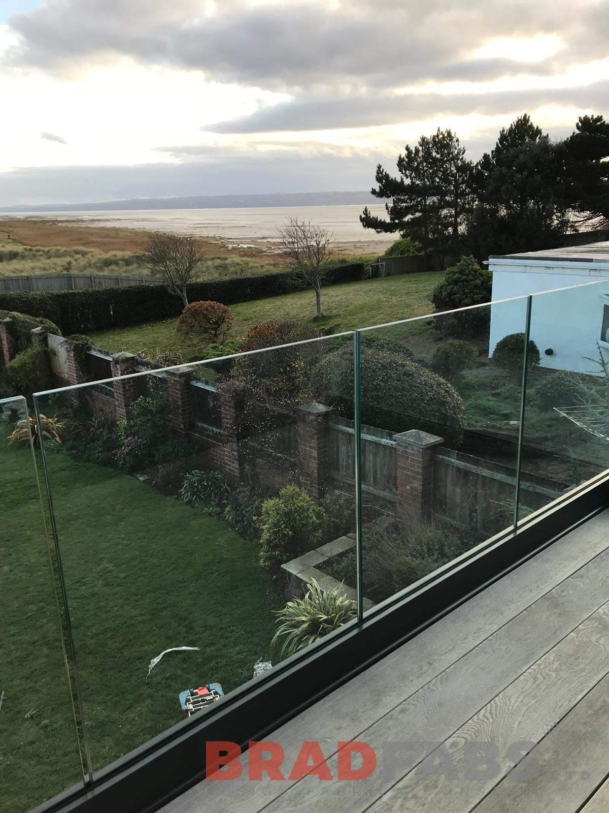 Contemporary infinity balustrade (this is set in a channel system).  We have a full range of different types of balustrade to meet your requirements