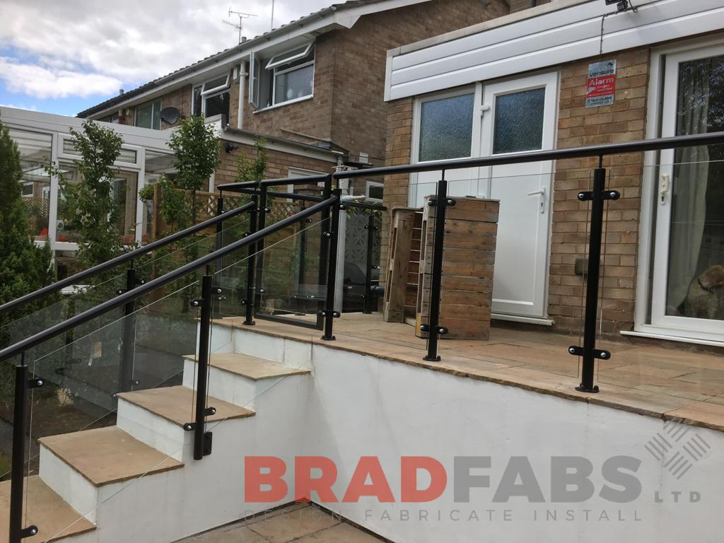 Mild steel, galvanised powder coated bespoke balustrade by Bradfabs Ltd