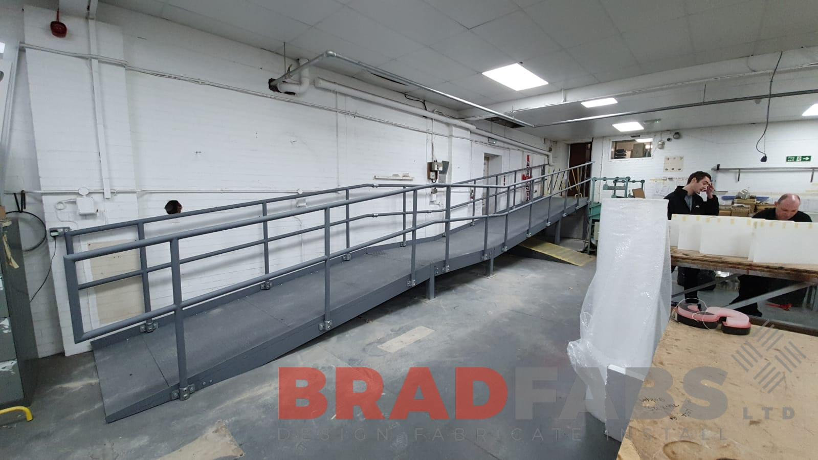 Metal galvanised access ramp by Bradfabs
