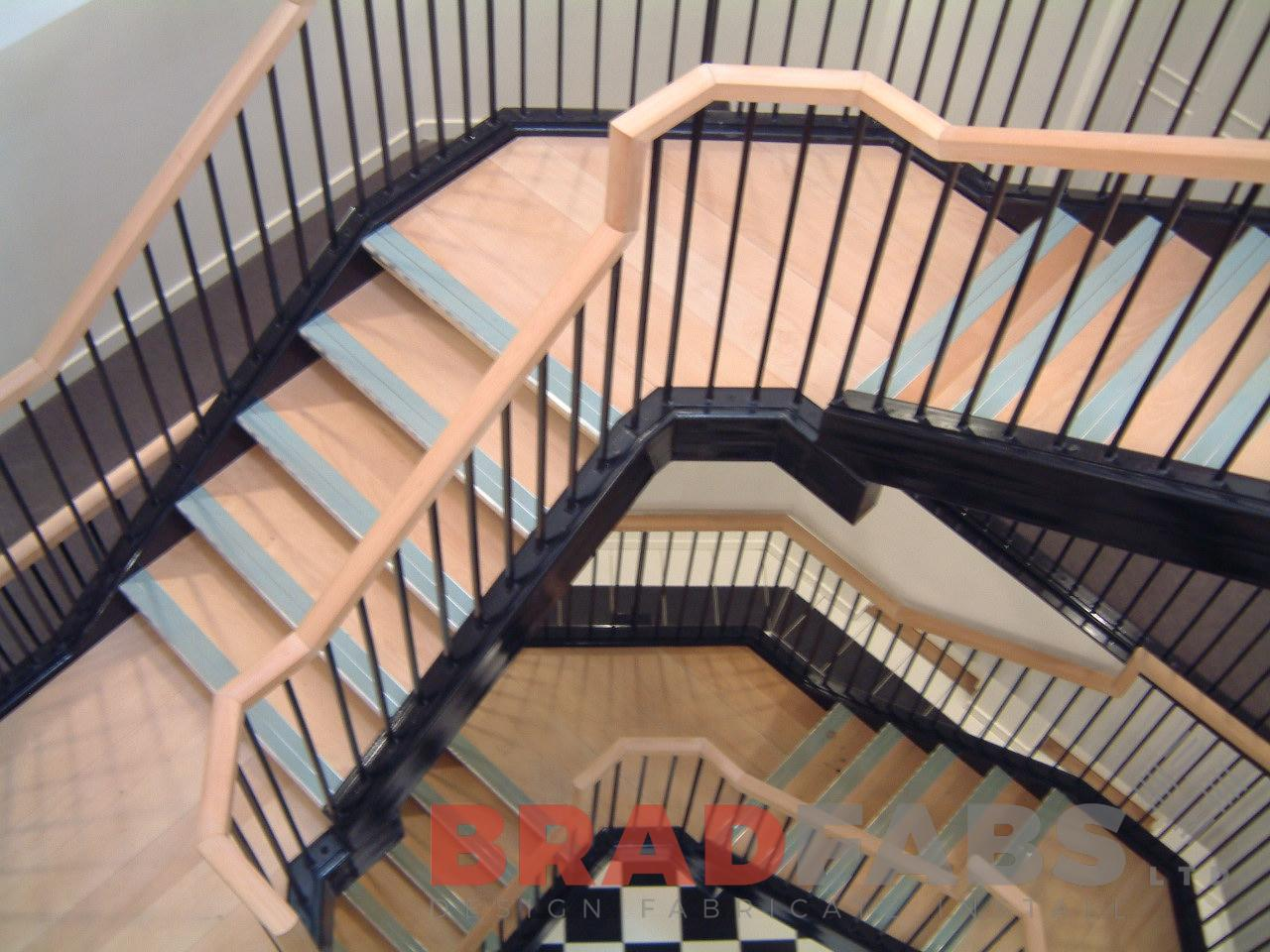 Bradfabs is one of the only few companies that possess the skills to make a curved steel staircase