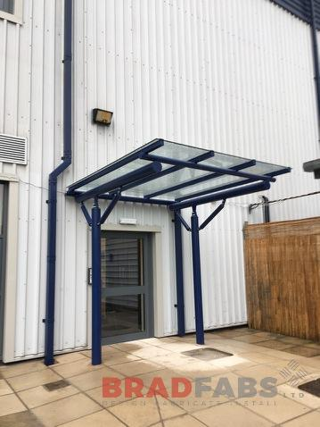 Canopy to provide Shelter at a main entrance to an office