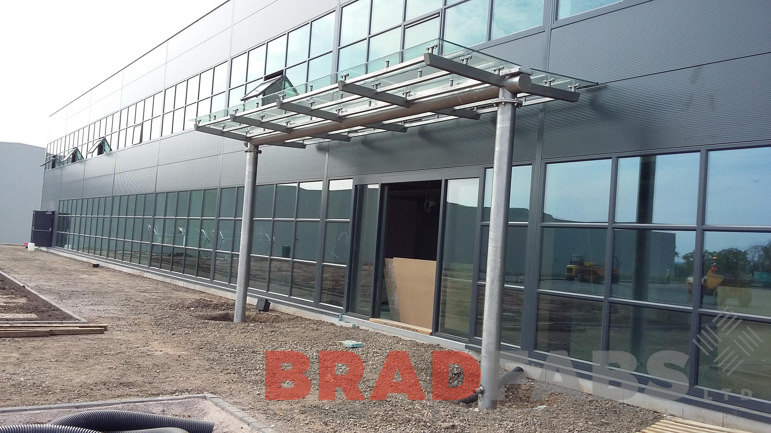 Large Airport glass canopy design by Bradfabs