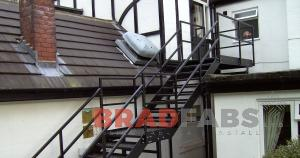 Straight staircase, designed and installed by Bradfabs UK, mild steel, galvanised