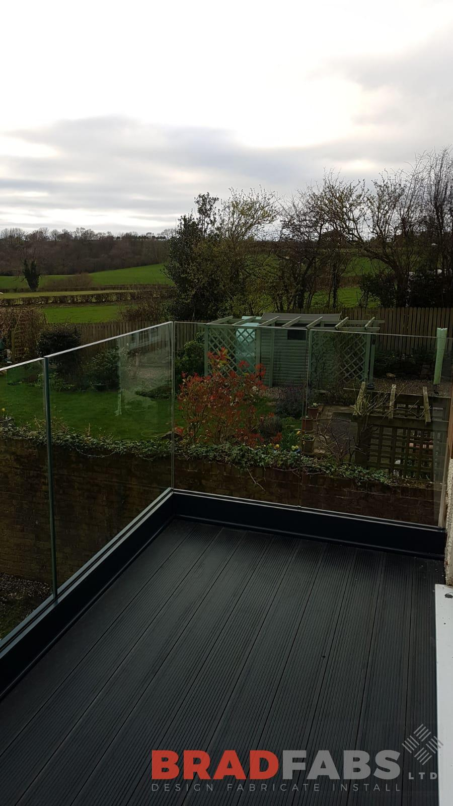 Our customers breathtaking views with perfect finish infinity glass channel system balustrade by Bradfabs