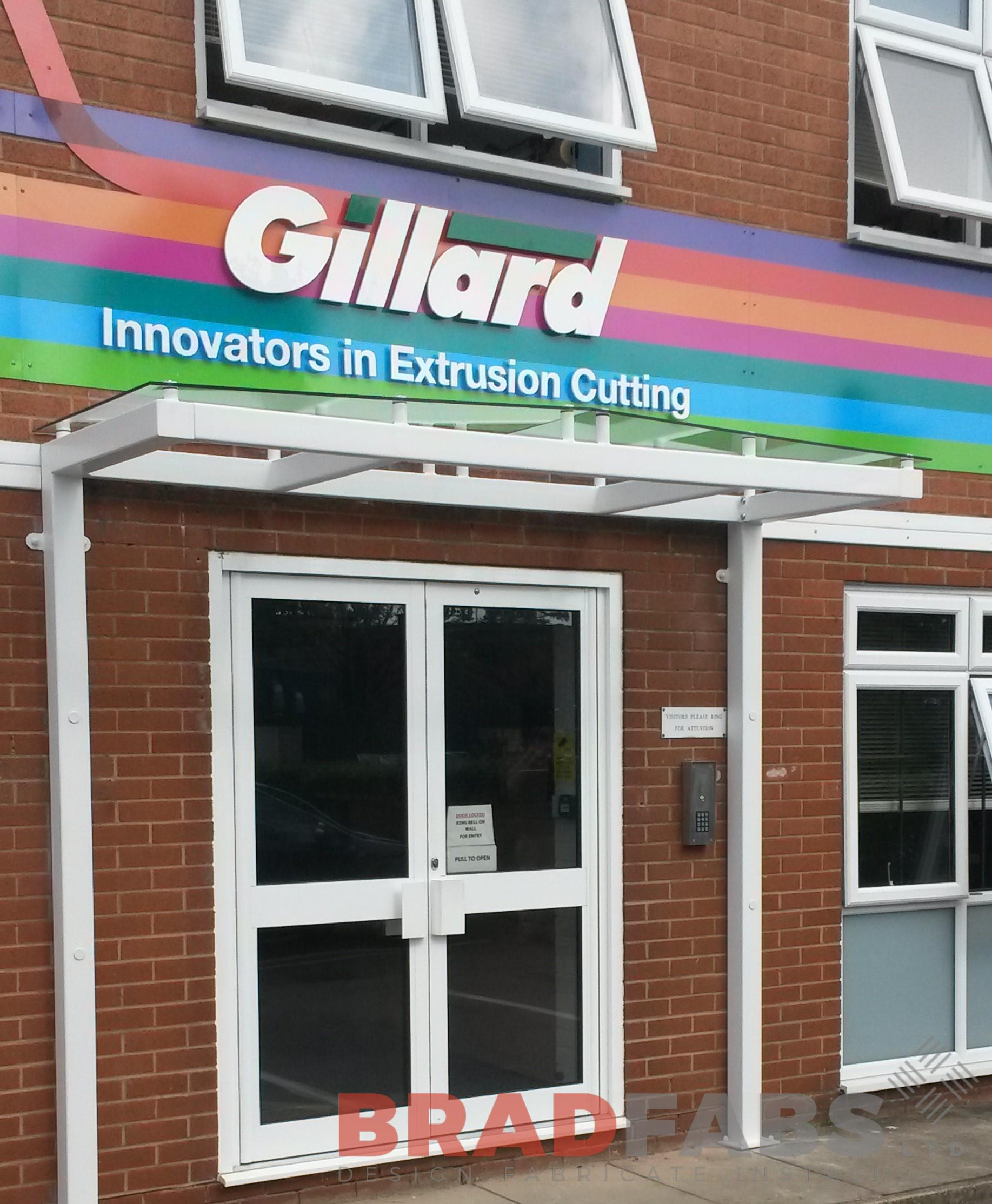 Improve the look of your business entrance with a Bradfabs Canopy