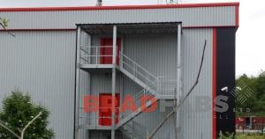 Bradfabs manufactured and installed this steel fire escape for a commercial property