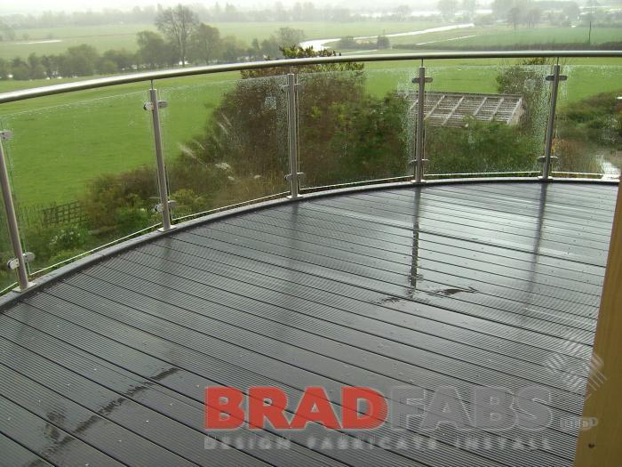 Bradfabs made this curved balcony balustrade for a customer in Lincolnshire.