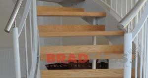 timber clad and stainless steel helix stairs