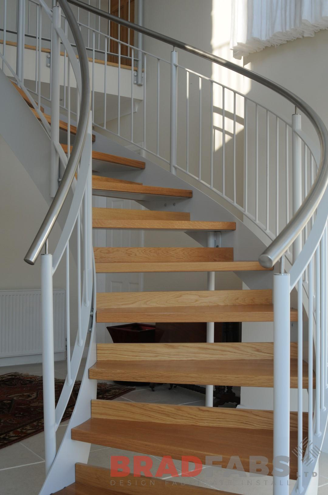 Helix staircase manufactured by Bradfabs
