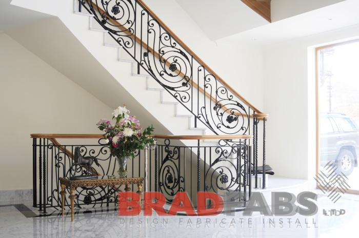 modern decorative balustrade and timber handrail