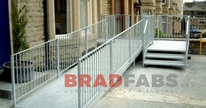 building access ramp, access ramp for push chairs, access ramp fabricated and installed