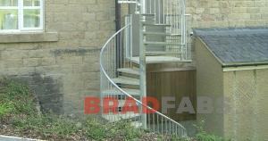 steel staircase fabricated by bradfabs, staircase installed in bradford, staircase installed in leeds, steel starcase custom made and installed by bradfabs